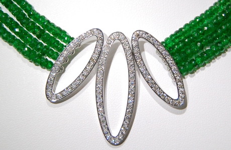 Collier Tsavorite et diamants