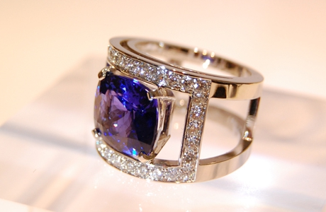 Bague Tanzanite et diamants