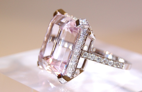 Bague Morganite et diamants