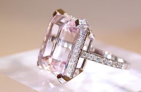 Bague Morganite et diamants