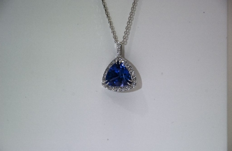 Pendentif Tanzanite et diamants
